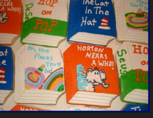 Dr. Seuss books teach children about rhyming words in a delightful way.