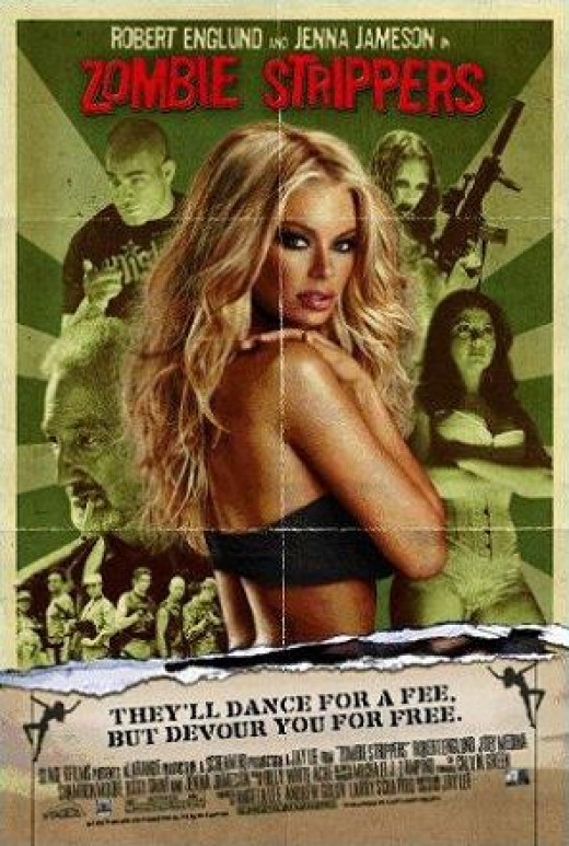 """""""Zombie Strippers"""" poster"""