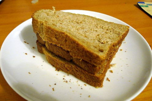 A very simple toast on toast sandwich