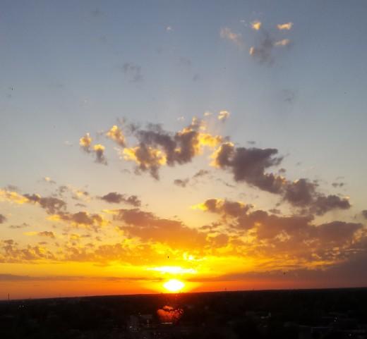 A radiant sunset...