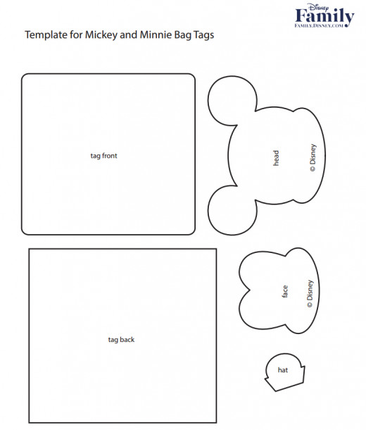 You could even use these templates to make Minnie or Mickey felt faces.