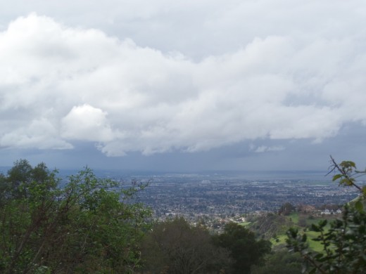 Lookout from South Rim Trail in Alum Rock Park