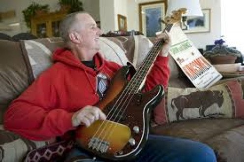 Jack Ely with his bass.