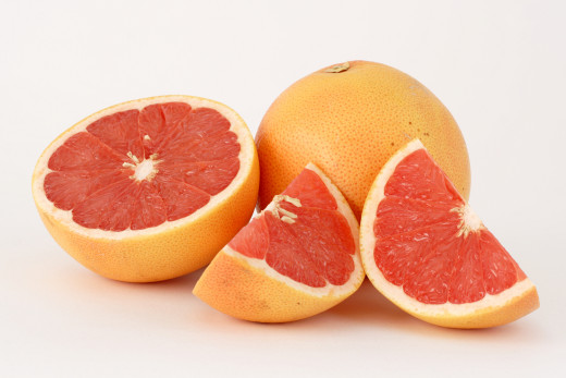 Pink grapefruit.  Eating the whole fruit has exponentially more nutritional benefits than squeezing out all the juice, leaving many of the nutrients behind.