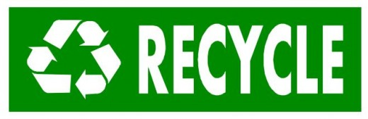 Recycle Word Art Bumper Sticker
