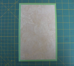 Bottom layer adhered to card