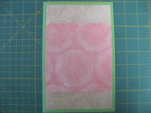 Top layer adhered to card