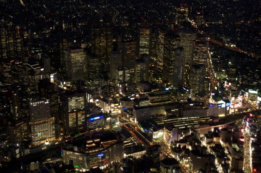 """ImageShinjuku station - aerial night 2"" by Lukas - originally posted to Flickr as Shinjuku station - aerial night. Licensed under CC BY 2.0 via Wikimedia Commons"