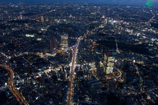 """""""Roppongi aerial at night"""" by Lukas - originally posted to Flickr as [1]. Licensed under CC BY 2.0 via Wikimedia Commons. Resized by Andros Pope."""