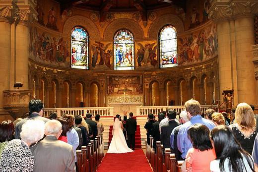 Christians Wedding in Church