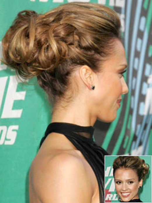 Jessica Alba updo hairstyle