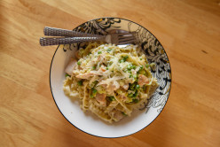 Summertime Lunch Ideas - Creamy Chicken, Leek and Pea Pasta Recipe