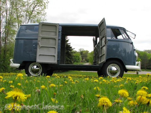 Stunning restoration on this '59 Double Door Panel Van over at Vintage VW Cars