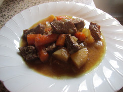 Brown Gravy Stew in Slow Cooker