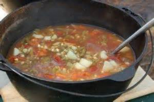 Sprinkle instant potatoes to stew to help thicken the gravy