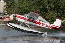 Four seat Cessna Bush Plane taking off