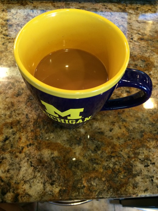 One cup of coffee is a good way to jog your system.