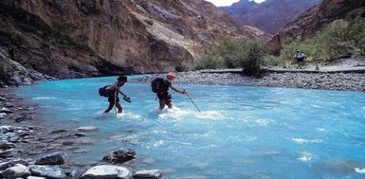 One has to cross the Indus river many times on the Markha Valley Trek