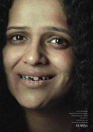 "Against Domestic Violence: ""DOMESTIC VIOLENCE"" Print Ad by DDB Mudra Group Mumbai"