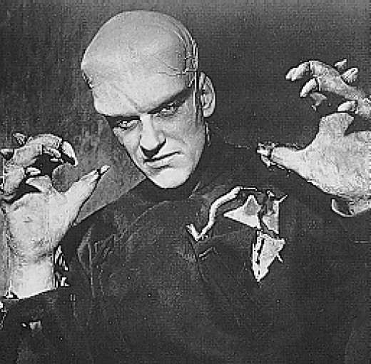 James Arness played bit parts such as this monster in a cheap film.