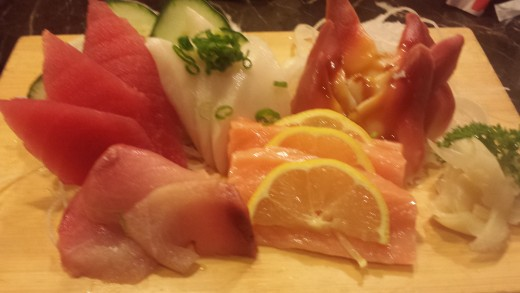 Sashimi Sampler with Hard Clam