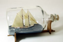 How do you build a boat in a bottle?