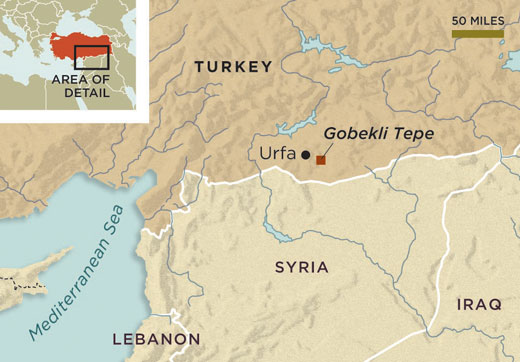 Location of Gobekli Tepe