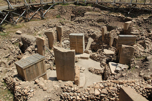 Erected Pillars of Gobekli Tepe