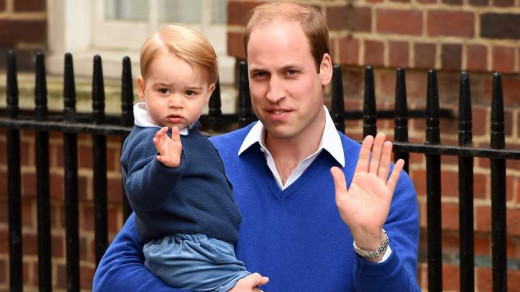 Prince George goes on his first visit to meet his new sister