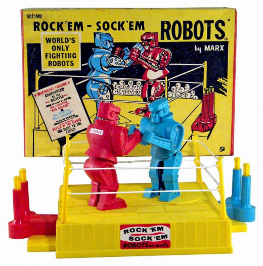 Robots beating each other up. It was all good.