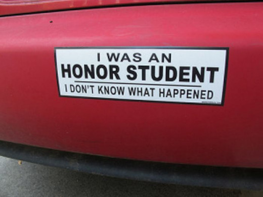 Bumper stickers like this one add variety to my TV-free life.