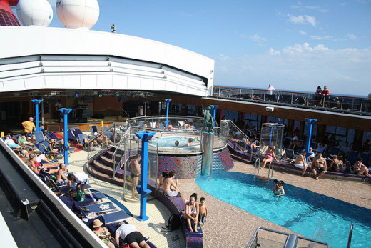 Carnival Miracle Lido Deck