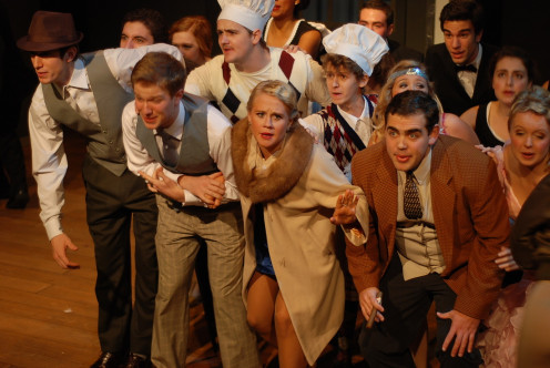 "Another scene from the Broadway play, ""The Drowsy Chaperone."""