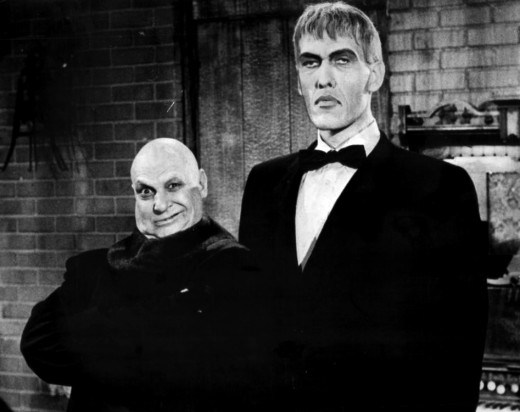 Uncle Fester (Jackie Coogan) and Lurch (Ted Cassidy) in 1966.