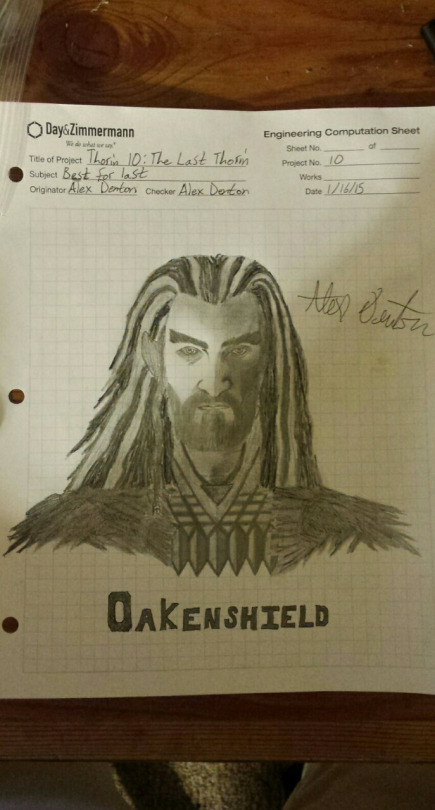 This was the end result from me trying to sketch Thorin Oakenshield 10 times