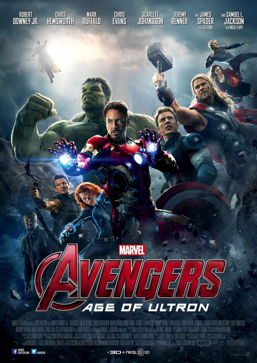 "Promotional poster for ""Avengers:  Age of Ultron."""