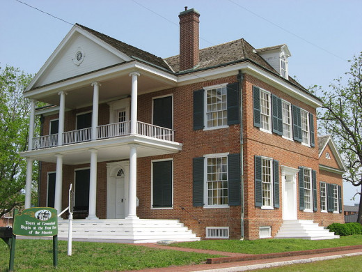 Grouseland, Vincennes, Indiana. Home of William Henry Harrison