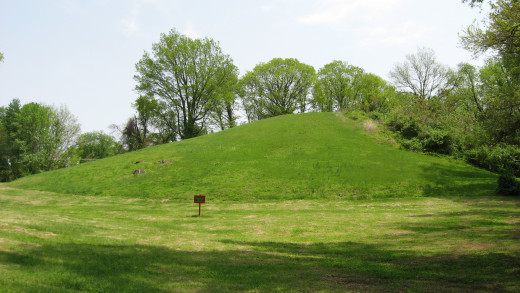 Pyramid Mound is actually a naturally formed loess hill.