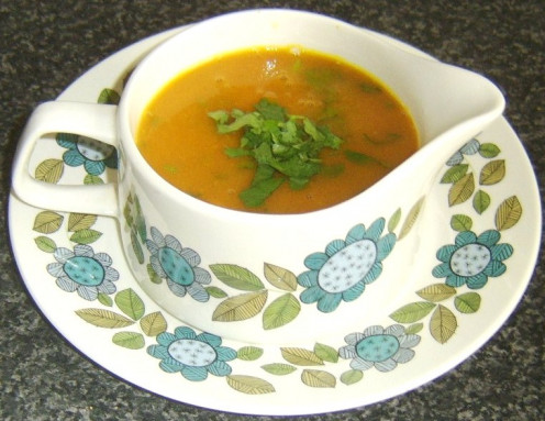 Celery and onion squash soup
