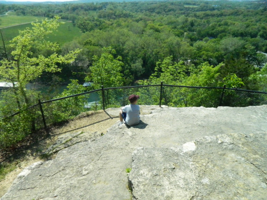 A view from atop the bluff at College of the Ozarks. Peaceful, tranquil, a spot to think.