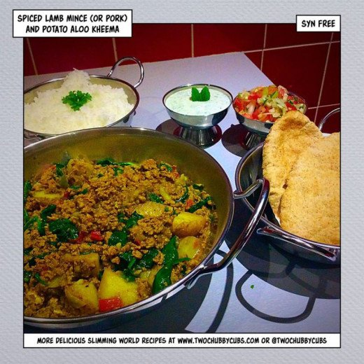 Syn Free Slimming World Spiced Lamb Mince and Potato Aloo Kheema
