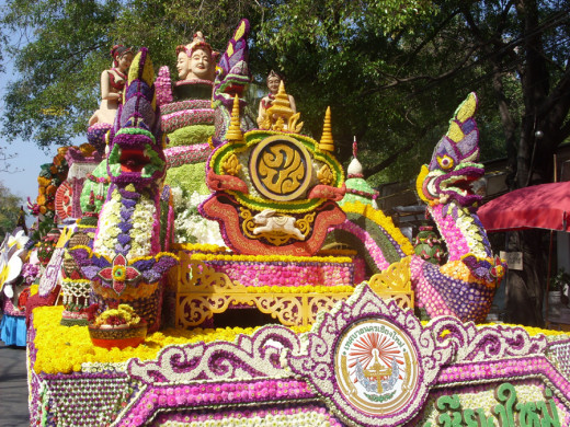 Flower Festival Float at Buak Haad Park