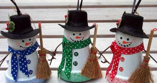 Charming Youu0027ll Enjoy Making This Cute Little Frosty Group Of Snowmen By Going To  The Flower Pot Crafts Site For The Instructions. The Kids Will Love Helping  Make ...