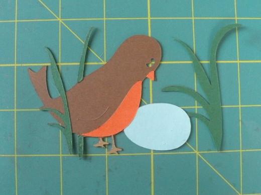 Adhere Robin's breast and Beak