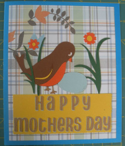 Mother's Day card making featuring a Robin and her Egg