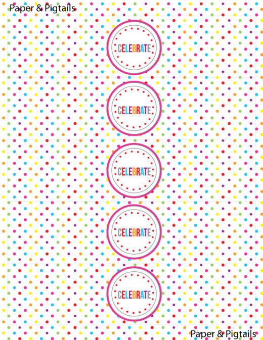 Both these rainbow printables courtesy of Kori Clark. Here to download...