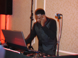 """DJ Ron, played such songs as """"Flashlight"""" and the """"Cha Cha Slide as guests enjoyed dancing."""
