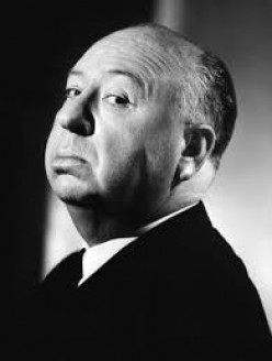 Alfred Hitchcock-- master film maker, writer, producer, director.