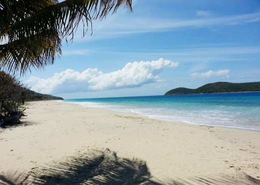 Zoni Beach, Culebra Island, Puerto Rico.  Brilliant weather is common in the Caribbean but not guaranteed.