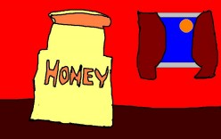 Fresh drinking water and honey on bread. Old cures for illness going back to Ancient Greece.